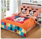 *** Big M Mickey Mouse Queen Bed Quilt Cover Set - Flat or Fitted Sheet ***