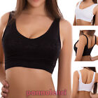 Top woman bra lace sports fitness elastic cups push up new B6602-3