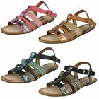 SAVANNAH F0770 Ladies Flat Strappy Sandal