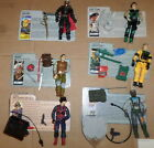 1984-90 Hasbro GI Joe-lot of 6 different figures-all 100% complete w/FCs