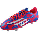 Adidas Junior Kids Boys F5 FG Football Boots Blue/Pink *AUTHENTIC*