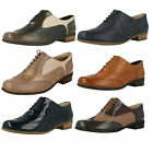 Ladies Clarks Hamble Oak Smart Leather Brogue Style Lace Up Shoes