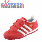 Adidas Originals Dragon Junior Kids Girls Velcro Classic Retro Trainers Joy Pink