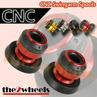 Aluminium Tobor Swingarm Spools Sliders M8 / 8mm for Suzuki GSR600 GSR750