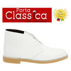 FREE SHIP Clarks Mens Bushacre 2 White Leather Desert Boot C