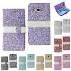 Samsung Galaxy J7 Luxury Jewelry Bling Diamond Crystal Rhinestone Wallet Case