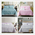 Floral New Quilted 100% Cotton Queen King Size Bed Bedspreads/Coverlet Set Linen