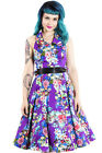 Hearts and Roses (H&R) Rockabilly Pin Up Retro  Alexa Floral Dress 50's