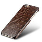 iPhone 6S 6 Genuine Real Leather Luxury Deluxe Crocodile Style Case Cover New Uk