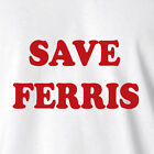 New Shirt Singlet Save Ferris bueller day off 1980's fancy dress costume party