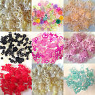 100 x Mixed Flatback Hearts Resin Pearls Bow Rose Embellishments Card making