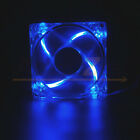 Lots 1/2/4 Quad 4 LED Lights Clear 80mm 120mm PC Computer Case Cooling Fan Mod