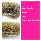 Glass Rocaille Seed Beads 11/0 3000 Beads Tan and Rainbow Brown Spacer Beads