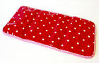 Handmade baby girl travel changing mat Red Pink Oilcloth & Summer Garden Holiday