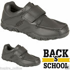 BOYS LEATHER BACK TO SCHOOL SHOES KIDS CASUAL FORMAL VELCRO WEDDING DRESS BOOT