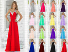 2017 Long Chiffon Formal Evening Ball Gown Party Prom Bridesmaid Dress Size 6-18