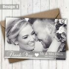 Full Photo Personalised Photo Wedding Thank You Cards & Envelopes