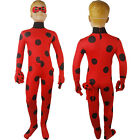 Kids Girl Miraculous Ladybug Jumpsuit Halloween costume Fancy Catsuit Xmas Gift