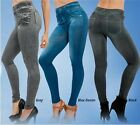 Sexy Women Skinny Leggings Slim thin Faux Denim Look Jeans Jegging Stretchy Pant