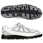 c/o Mens FootJoy SuperLites 58001 Wht/Gry/Blk Waterproof Mesh Spikeless Golf sho