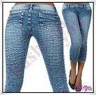 Sexy Women's Capri Jeans Summer Ladies Cropped 3/4 Shorts Size 6,8,10,12,14 UK