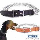 "Ancol Heritage 3 Row Heavy Duty Polished Chain Collar 18""-26"" Black/Tan"