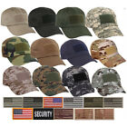 Stylish Military Camo Operator Tactical American Flag Patch Baseball Hat Cap