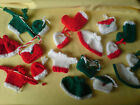 handmade Knitted CHRISTMAS Card Toppers / Embellishments Bags, Stockings, Hats