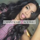 SILK TOP FRONT/FULL LACE WIGS Black Women 6A Indian Remy Human Hair Natural Wave