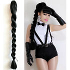 Lady Long Straight Hair Extension Braid Heat Resistant Ponytail Claw Clip Piece
