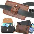 Hot PU Leather Mobile Phone Waist Hang Case Cover Belt Holster Clip Pouch Sleeve