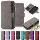 Genuine Leather Wallet Zipper Flip Card Case Cover For Samsung Galaxy Note 5