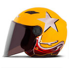 F#14 Vintage Scooter Casque Motocross Open Face Adults Motorcycle Summer Helmet