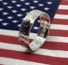 Silver State Quarter Coin Rings - Hand Crafted and Polished in Sizes 6-13