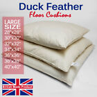 Large Square Duck Feather Floor Cushion Pad Insert Filler Inner Handmade in UK
