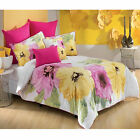 7 Pce Floriana Quilt Cover + 2P/cases + 2Eurocases + 2Cushions DOUBLE QUEEN KING