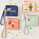 HIMORI Hello Wallet - Ziparound - Corner Zipper Mini Slim Half Sized Wallet