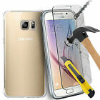 Samsung Galaxy Ultra Slim Thin Gel TPU Case + Tempered Glass Screen Protector