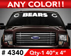 "CHICAGO BEARS ""C"" WINDSHIELD DECAL STICKER 40""x4"""" ANY 1 COLOR $14.99 USD on eBay"