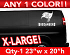"""TAMPA BAY BUCCANEERS WORD/FLAG XLARGE LOGO DECAL STICKER 23""""w x 20""""h ANY 1 COLOR $24.99 USD on eBay"""