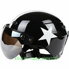 F#26 Racing Jet Pilot Cycling Motorcycle Black Stripe Star Helmet Safety Casco