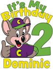 Custom Personalized Chuck E Cheese Birthday T-Shirt or Creeper