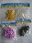 beads scoobies craft strings  plastic 4 pack various options shapes & colours