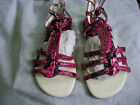 children girls new strappy sandals beach shoes in fuchsia in various sizes