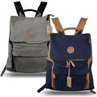 Rakuda Companion Canvas Travel Backpack Non-Washed Leather 13x17x5