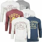 Mens T-Shirt By South Shore 'Fischer' Polo Long Sleeve Crew Neck Cotton