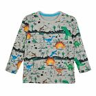 Bluezoo Kids Boys' Grey Dinosaur Print Top From Debenhams