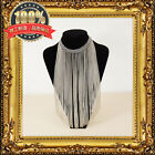 FASHION WOMEN'S GOLD SILVER GUN METAL CHAIN FRINGE SHORT LONG STATEMENT NECKLACE
