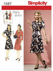 Simplicity Sewing Patterns Misses Vintage Retro Clothing 1950 Dress Bra Top 1940