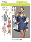Simplicity Sewing Patterns Misses' Vintage Retro Clothing 1950's Dress Bra Top s
